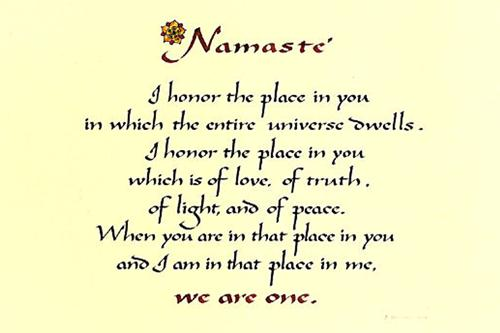 Qué Significa Namasté Historias De Un Practicante Zen